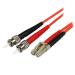 StarTech.com Cable Adaptador de Red de 10m Multimodo Dúplex Fibra Óptica LC-ST 50/125 - Patch Duplex