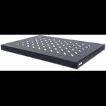 "Intellinet 19"" Fixed Shelf, 1U, 345mm Depth, Max 50kg, Black"