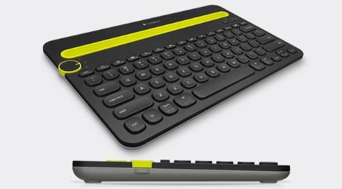 Logitech K480 mobile device keyboard Black,Green QZERTY Italian Bluetooth