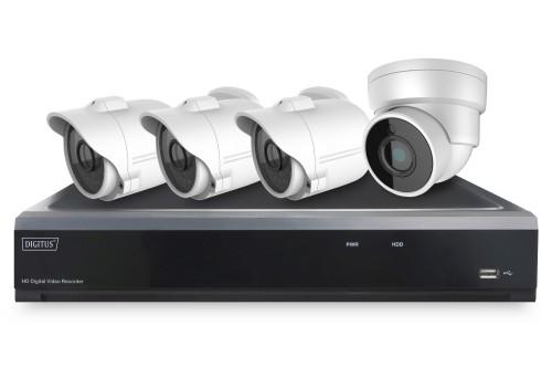 Digitus DN-16121 video surveillance kit Wired 4 channels