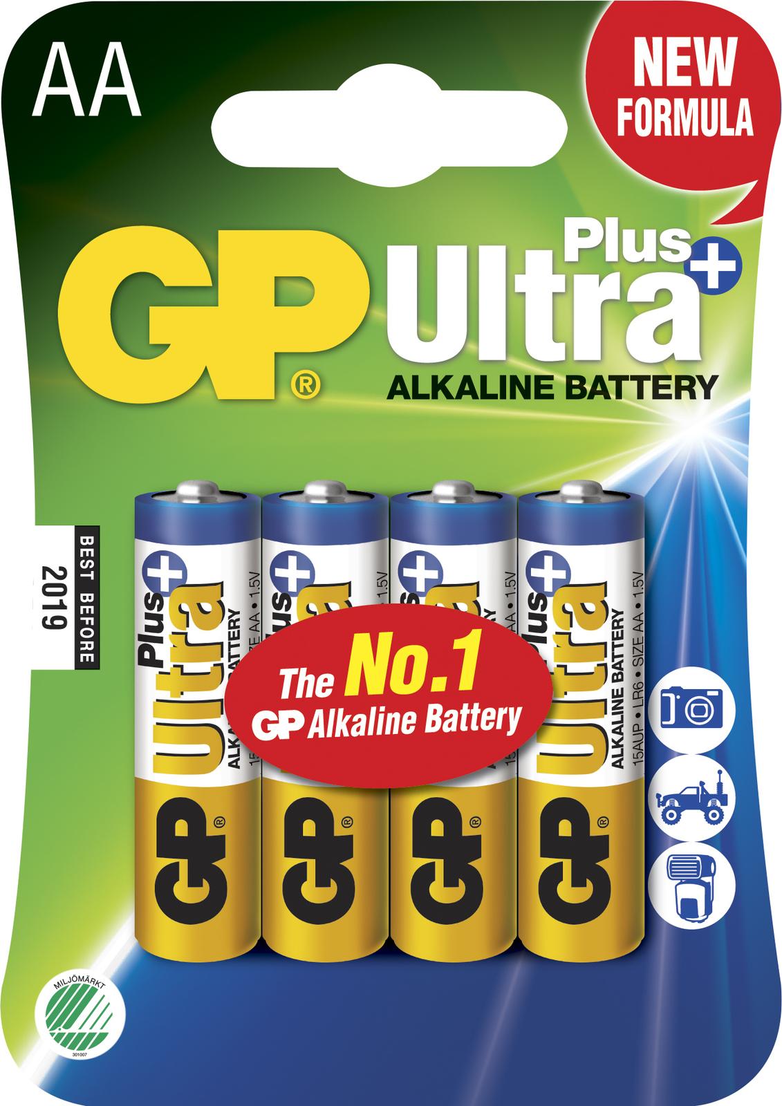 GP Batteries ULTRA PLUS ALKALINE AA/LR6