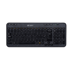 Logitech K360 RF Wireless QWERTZ Slovakian Black keyboard