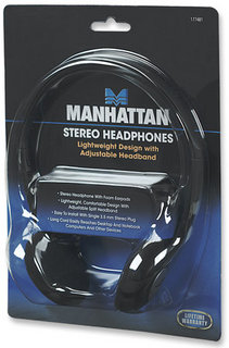 Manhattan Stereo Headphones Circumaural Black