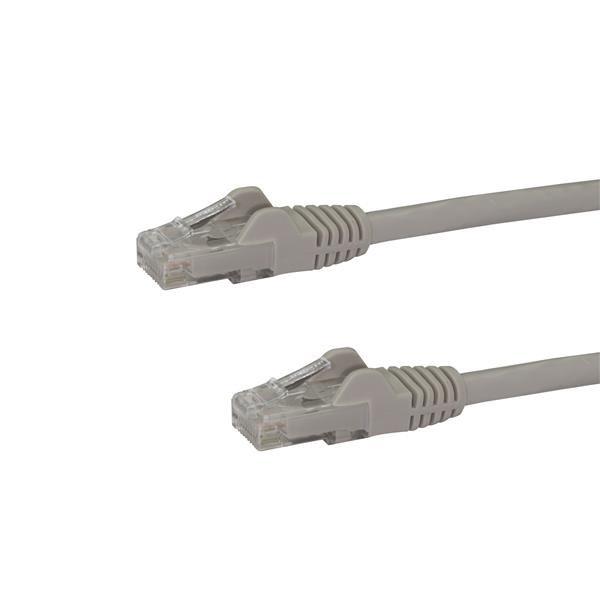 StarTech.com Cable de Red Gigabit Ethernet 15m UTP Patch Cat6 Cat 6 RJ45 Snagless Sin Enganches - Gris