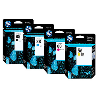 HP 88 CMYK Ink Cartridge Bundle