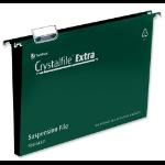 Rexel Crystalfile Extra Foolscap Suspension File 50mm Green (25)