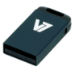 V7 Nano USB 2.0 4GB USB flash drive USB Type-A Zwart