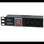 Dynamode PDU-8WS-H-SP-IEC-UK power distribution unit (PDU) 8 AC outlet(s) 1U Black