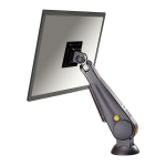 "Newstar Tilt/Turn/Rotate Desk Mount (grommet) for 10-30"" Monitor Screen, Height Adjustable (gas spring) - Black"