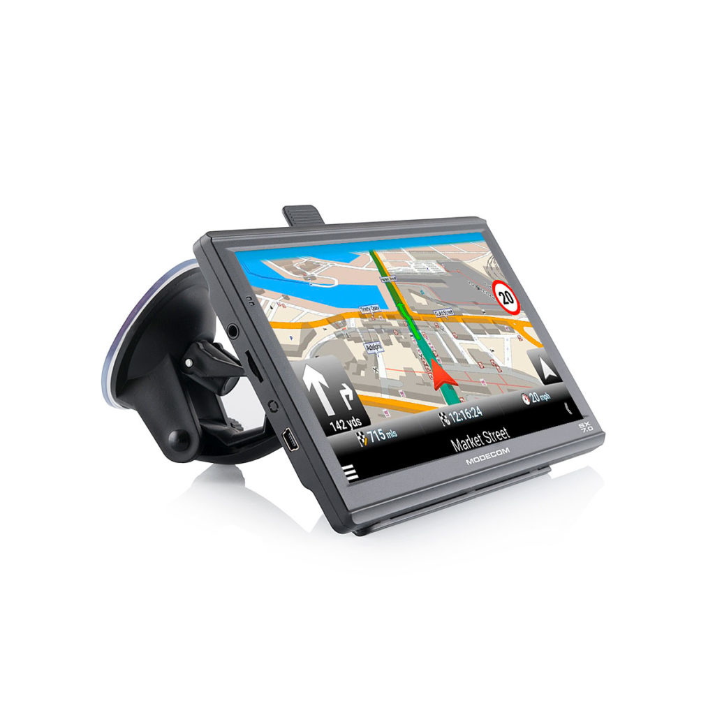 "Modecom FreeWAY SX 7.0 navigator 17.8 cm (7"") Touchscreen LCD Fixed Black,Grey 250 g"