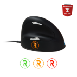 R-Go Tools R-Go Break HE Mouse, Ergonomic mouse, Anti-RSI software, Large (above 185mm), Right Handed, Wired