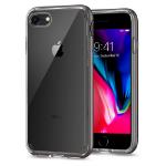 "Spigen iPhone 8 Case Neo Hybrid Crystal 2 mobiele telefoon behuizingen 11,9 cm (4.7"") Hoes Grijs, Transparant"