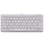 R-Go Tools R-Go Compact Keyboard, AZERTY (BE), white, wired