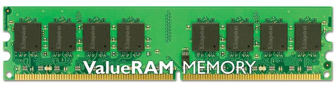 KINGSTON TECHNOLOGY VALUERAM 1GB 800MHZ DDR2 NON-ECC CL6 DIMM MEMORY MODULE