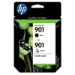 HP 901XL High Yield Black/901 Tri-color 2-pack Original Negro, Cian, Magenta, Amarillo