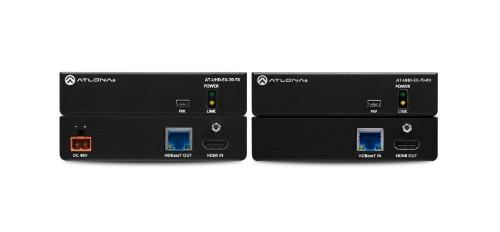 Atlona UHD-EX-70-KIT AV transmitter & receiver Black