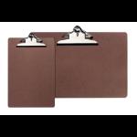 Rapesco Hardboard Clipboard personal organizer PVC Brown