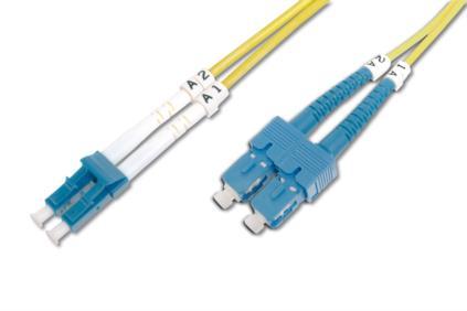 Digitus DK-292SCA3LC-05 fibre optic cable 5 m OS1 SC/APC LC/PC Yellow