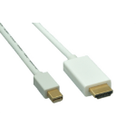 """Comprehensive MDP-HD-6ST video cable adapter 70.9"""" (1.8 m) Mini DisplayPort HDMI White"""