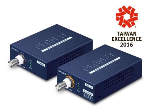 PLANET LRP-101C-KIT network extender Network transmitter & receiver Blue 10, 100 Mbit/s
