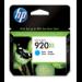 HP Cartucho de tinta original 920XL de alta capacidad cian