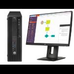 HP Z 240 SFF + Z22n 3.4GHz i7-6700 SFF Black Workstation