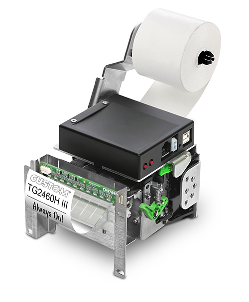 CUSTOM TG2460HIII Térmica directa Impresora de recibos 203 x 203 DPI Alámbrico