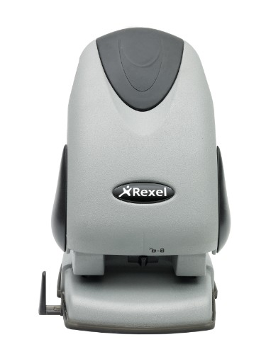 Rexel Precision 265 2 Hole Punch Silver/Black