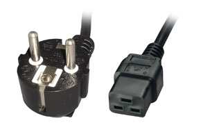 Lindy 30347 power cable Black 2 m