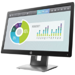"HP EliteDisplay E202 computer monitor 50.8 cm (20"") HD+ LED Flat Black,Silver"