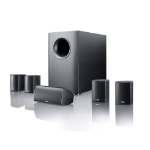 Canton Movie 135 5.1channels 620W Black speaker set