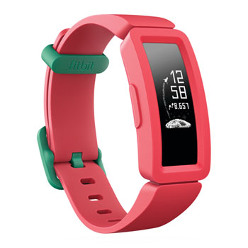 Fitbit Ace 2 - Activity tracker with band - silicone - watermelon/teal - band size 117-168 mm - mono