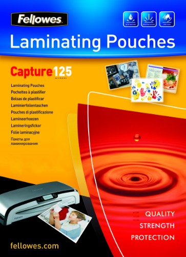 Fellowes Glossy 125 Micron Card Laminating Pouch - 75x105mm