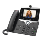Cisco IP PHONE 8845 IP telefoon Houtskool LCD