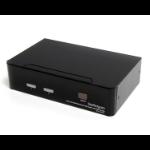 StarTech.com SV231DVIUA KVM switch Black