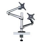 "Tripp Lite Dual Full Motion Flex Arm Desk Clamp for 13"" to 27"" Monitors"