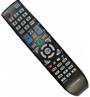 Samsung BN59-01012A IR Wireless press buttons Black remote control