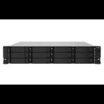 QNAP TS-1232PXU-RP-4G/168TB TOSH 12 Bay NAS Rack (2U) Ethernet LAN Black AL324