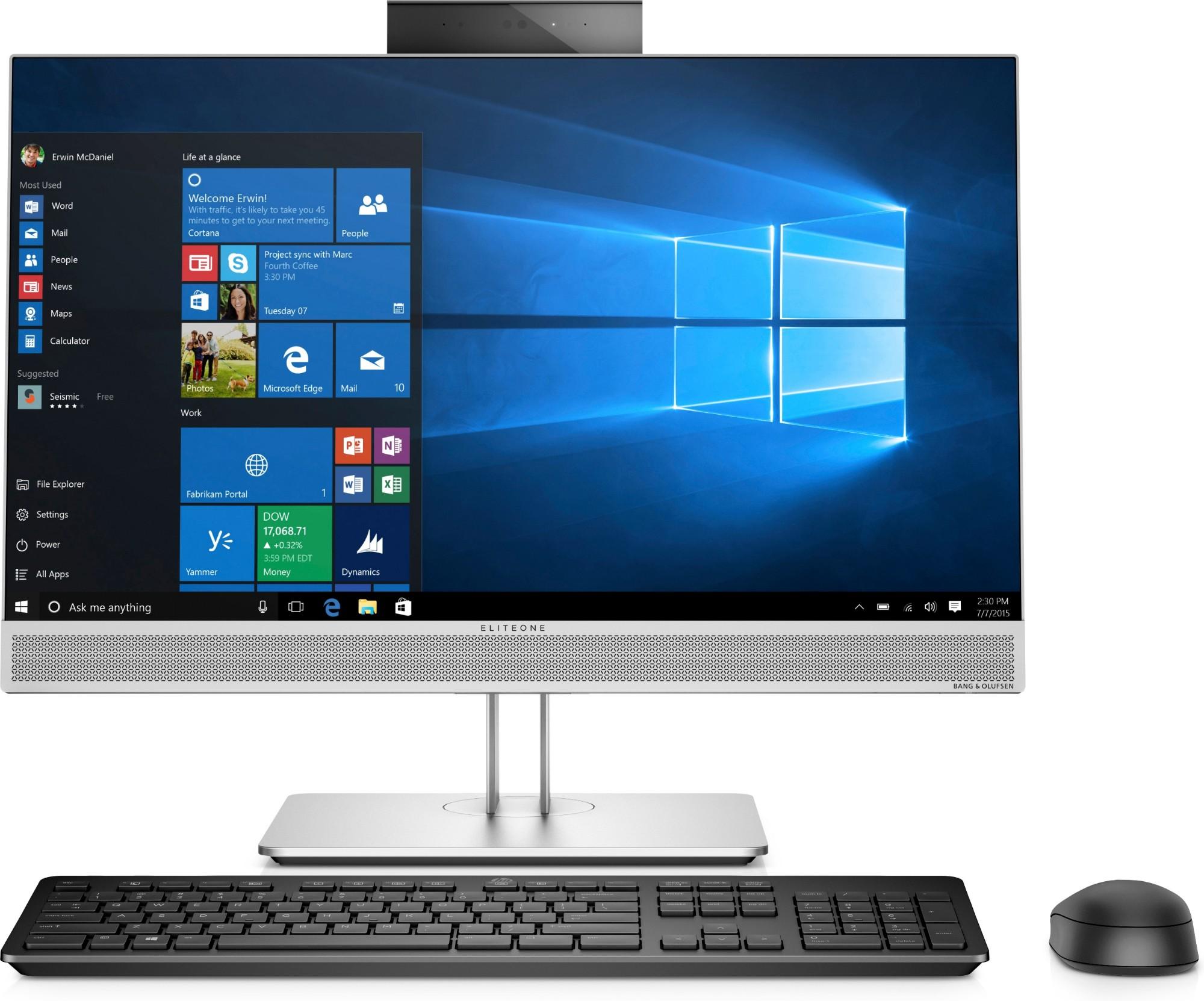 "HP EliteOne 800 G4 60.5 cm (23.8"") 1920 x 1080 pixels 8th gen Intel® Core™ i5 8 GB DDR4-SDRAM 256 GB SSD Wi-Fi 5 (802.11ac) Black,Silver All-in-One PC Windows 10 Pro"