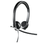 Logitech H650e Stereo Binaural Head-band Black