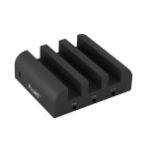 Inland 03224 charging station organizer Desktop mounted Black