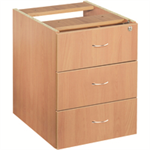 JEMINI FF JEMINI 3 DRAWER FIXED PED BEECH