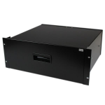 StarTech.com 4U Black Steel Storage Drawer for 19in Racks and Cabinets