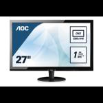 AOC Q2778VQE PC Flachbildschirm 68,6 cm (27 Zoll) 2560 x 1440 Pixel Wide Quad HD LED Schwarz