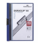 Durable Duraclip 60 report cover Blue, Transparent PVC