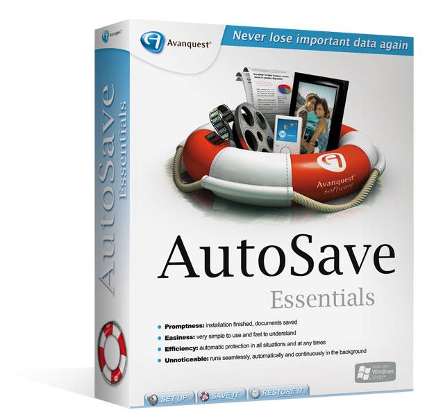 Avanquest AutoSave Essentials, Lic, 3 PCs, DE 3 Lizenz(en) Elektronischer Software-Download (ESD) Deutsch