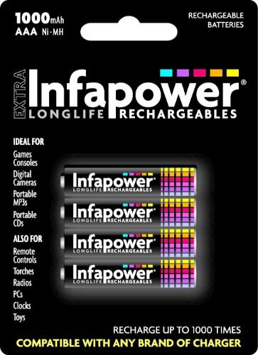 Infapower AAA 1000mAh Rechargeable battery Nickel-Metal Hydride (NiMH)