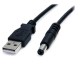 StarTech.com 2m USB to Type M Barrel Cable - USB to 5.5mm 5V DC Cable