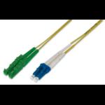 ASSMANN Electronic 3m E2000 (8° APC) - LC (PC) Glasvezel kabel OS2 E-2000 LC/PC Geel