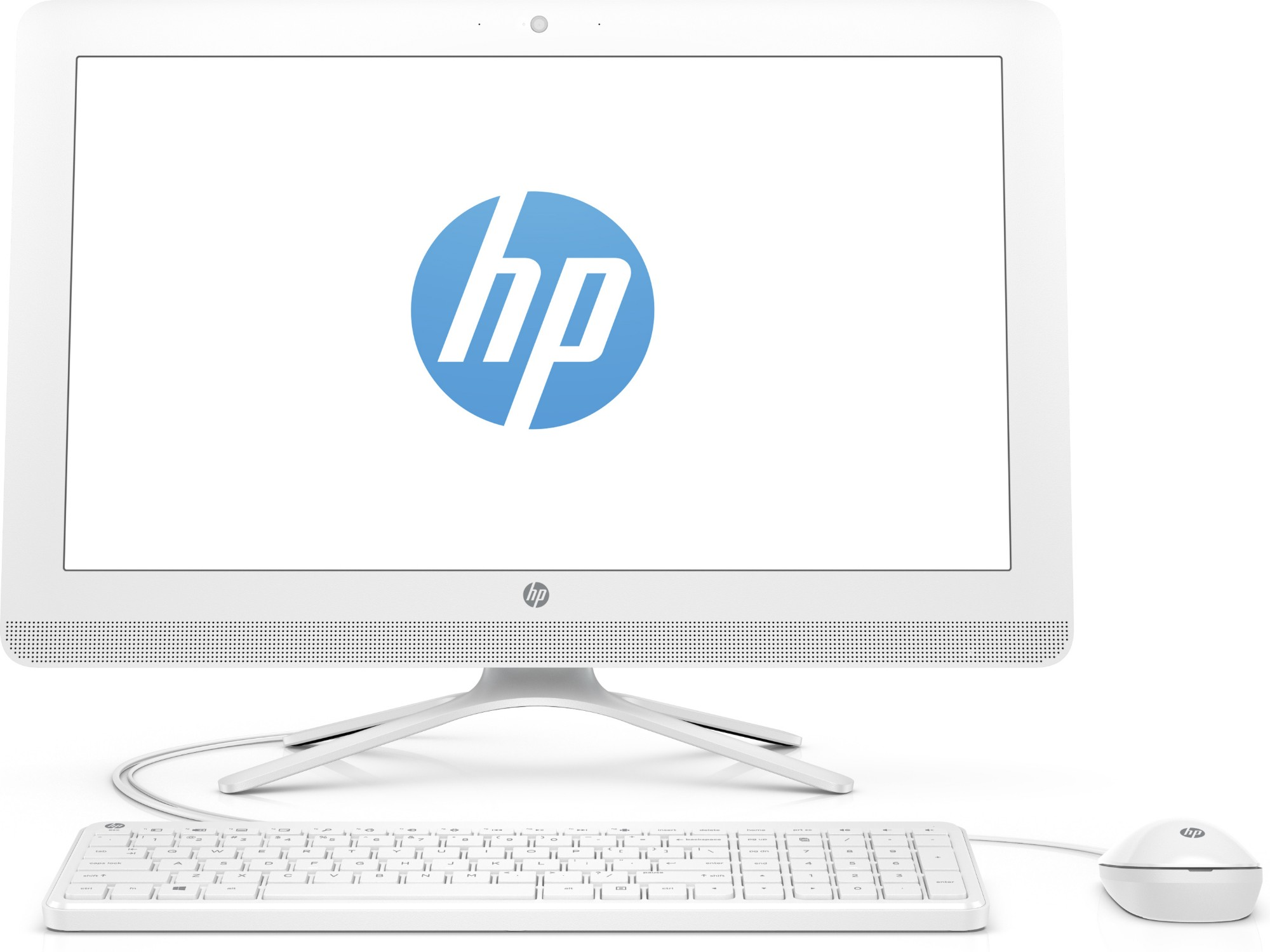 """HP 24 -g006na 1.6GHz J3710 23.8"""" 1920 x 1080pixels Blue, White All-in-One PC"""